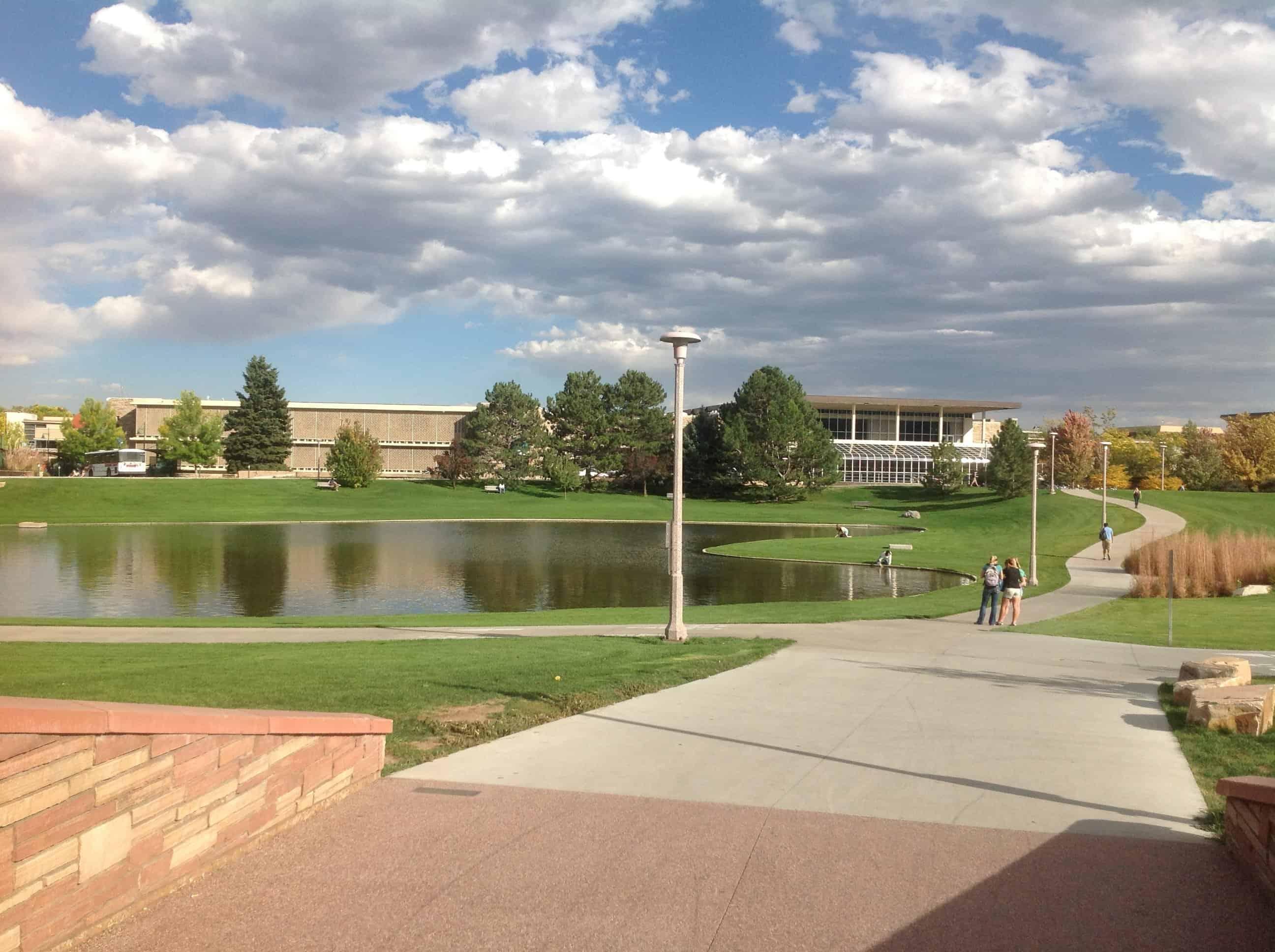 Colo State campus - lake