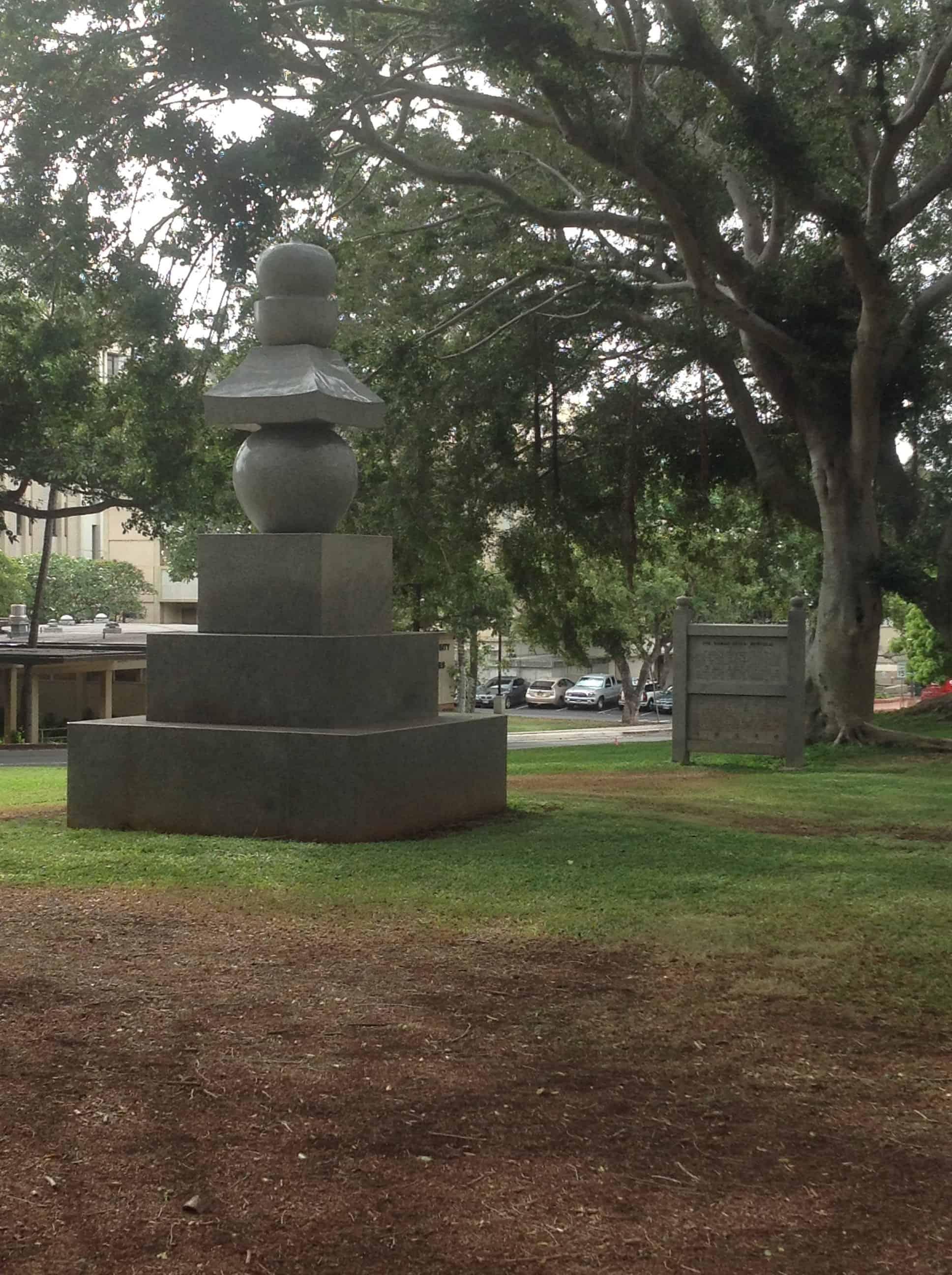 Sculpture near East-West Center