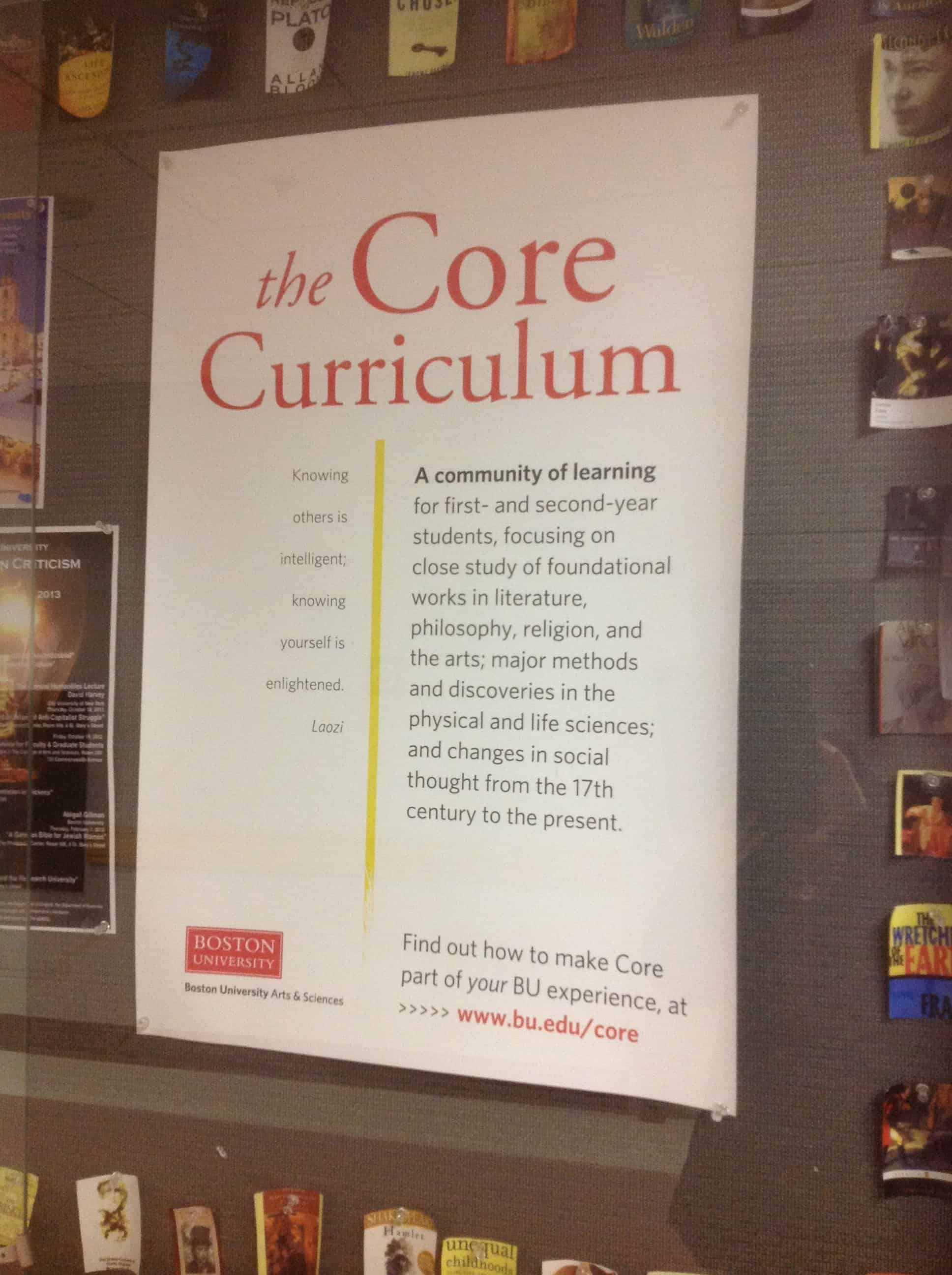 boston university magellan college counseling core curriculum