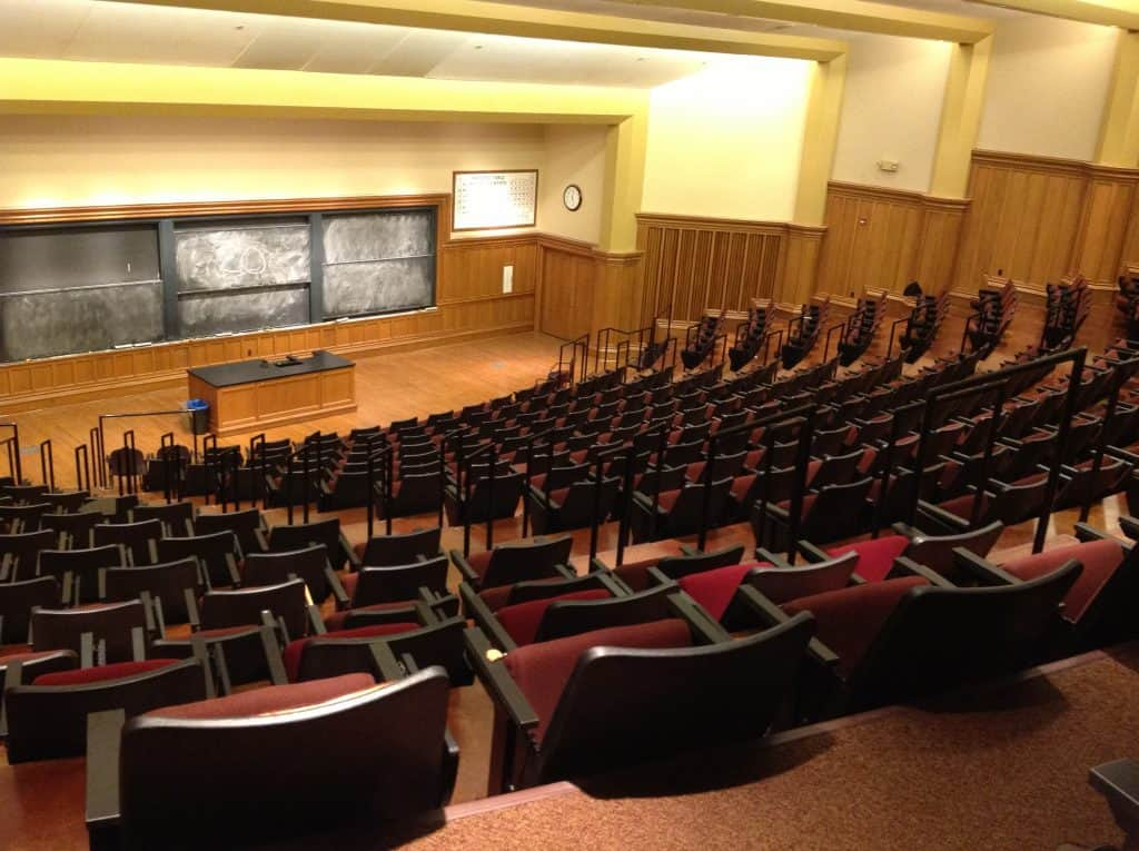 Larger lecture hall