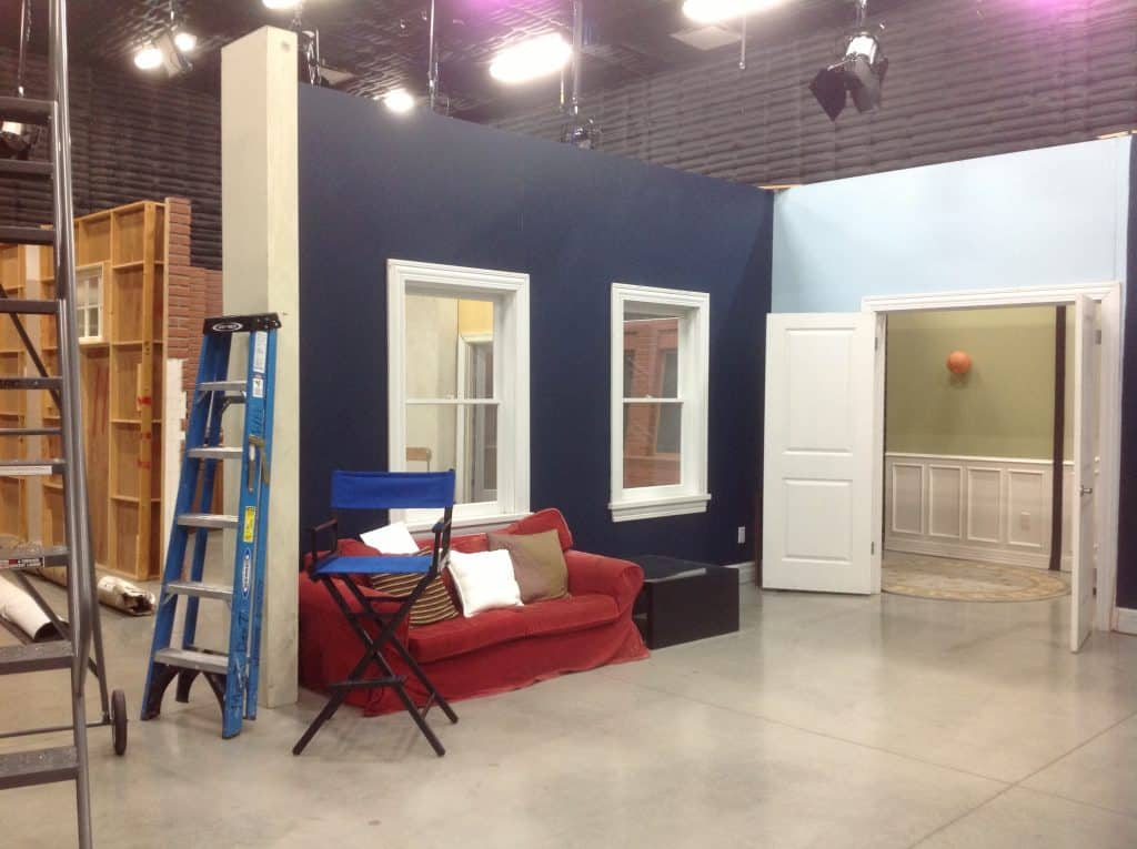 Woodbury's set design program has a brand new facility, including sound stage and green room.  Sound design is coming soon!
