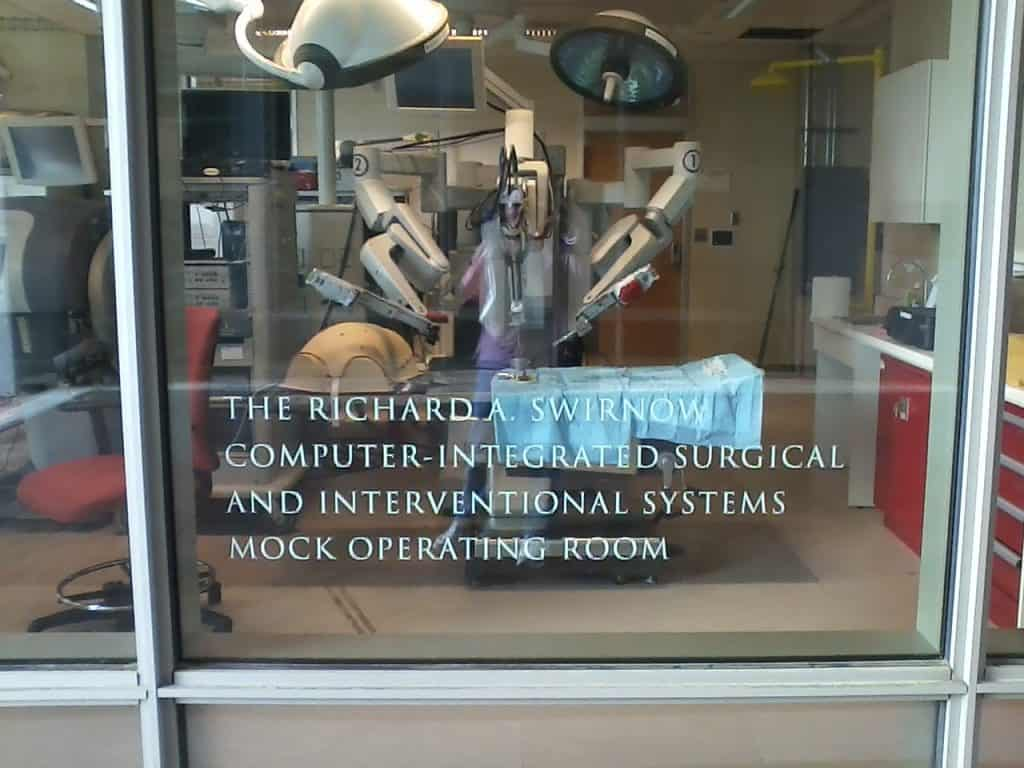 Johns Hopkins University mock operating room.
