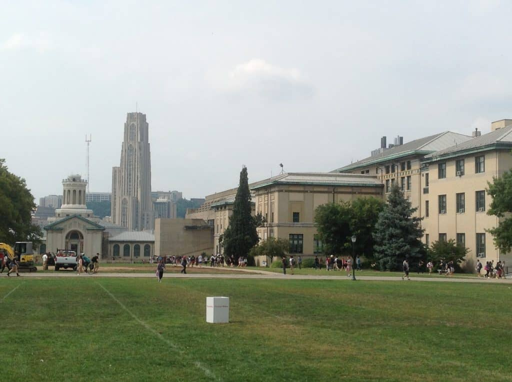 Pitt Cathedral of Learning from CMU campus