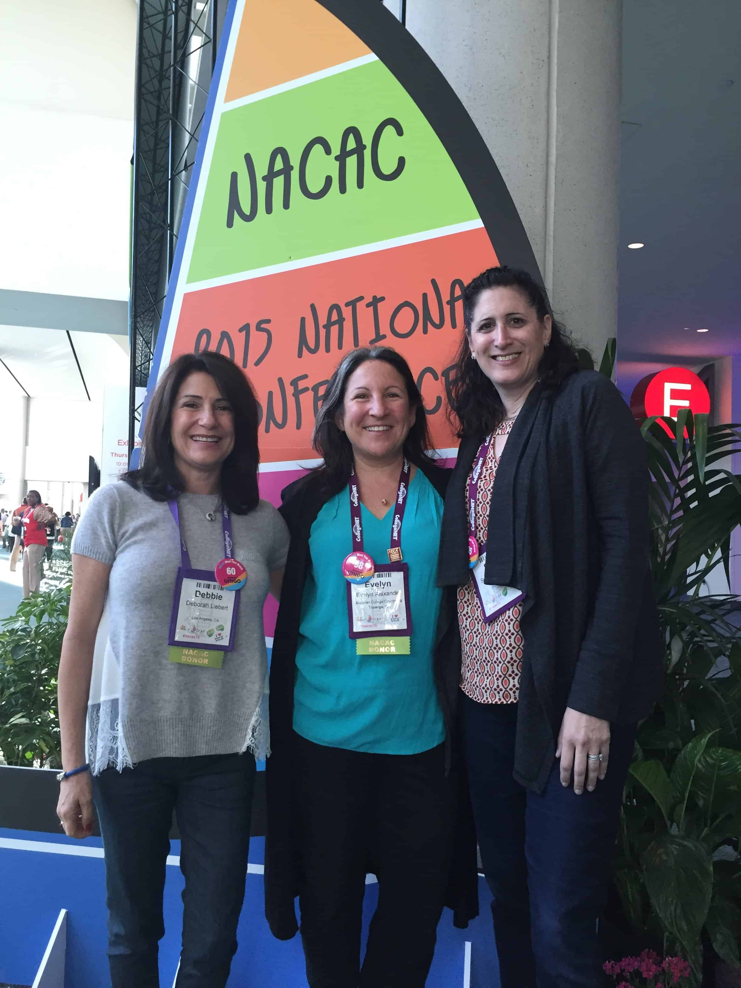 Debbie, Evelyn and Suzie at NACAC 2015 (1)