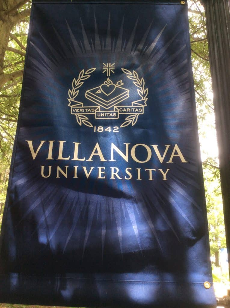 Villanova University campus tour - banner