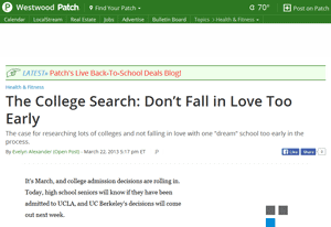 College Counselor College Search Tips