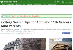 College Search Tips For 10th and 11th Graders