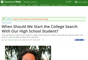 When To Search For A College