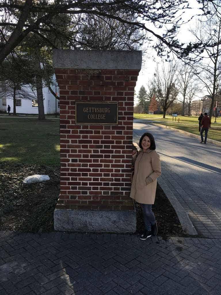 Debbie at Gettysburg College