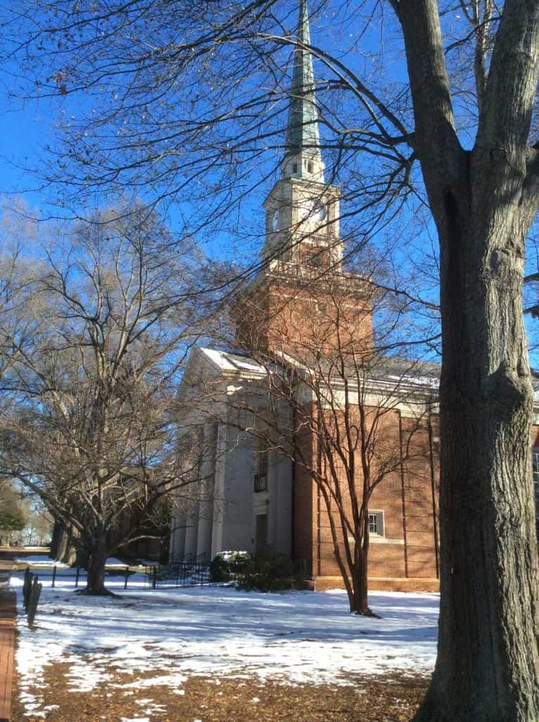 Davidson College chapel