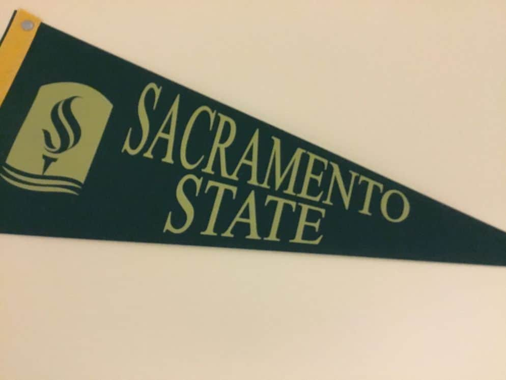 Sacramento State University pennant