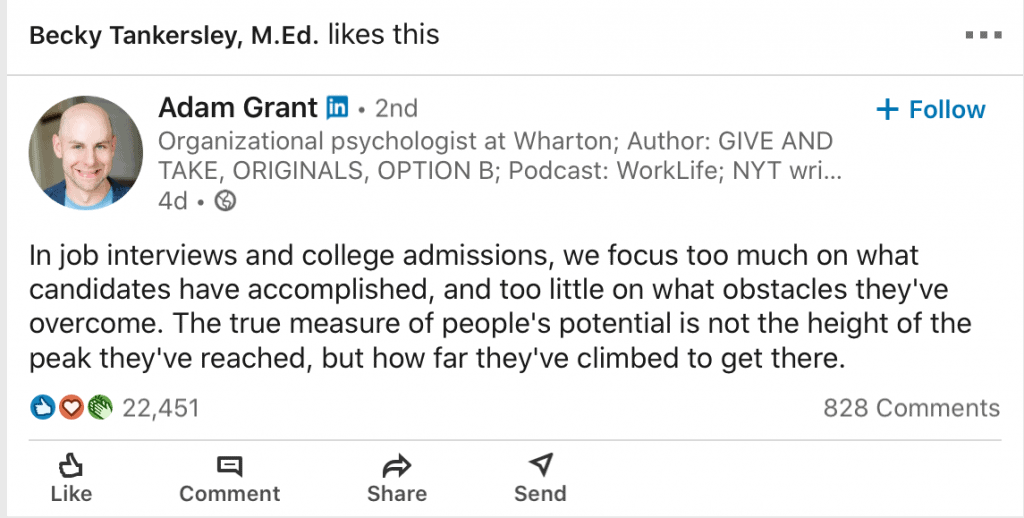 college essays show the human side