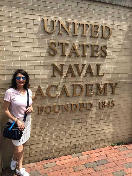 Sign of U.S. Naval Academy
