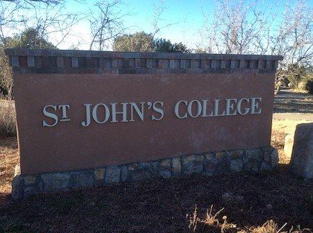 Entrance Sign of St. John's College