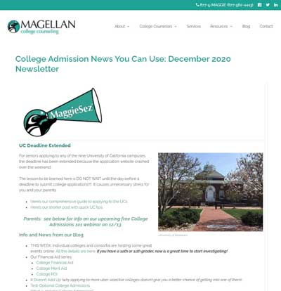 College Counseling Newsletter