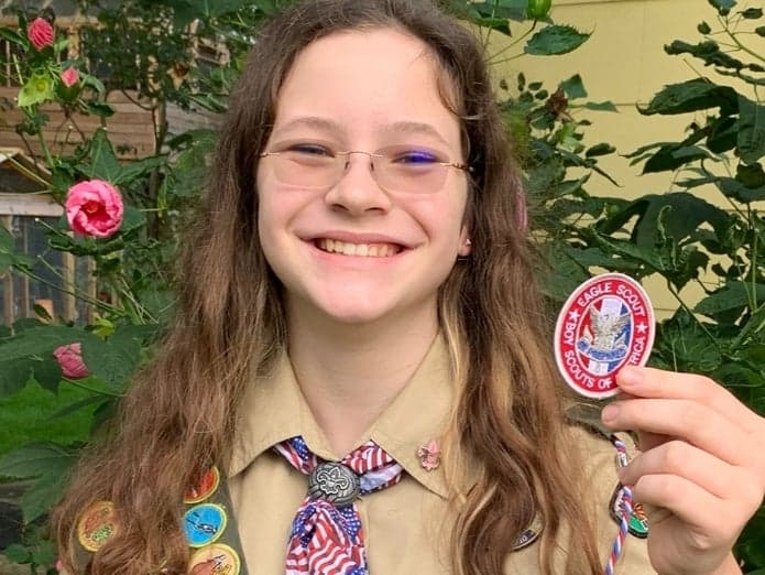 Eagle Scout girl