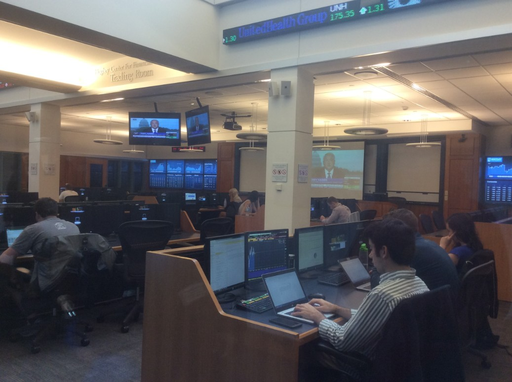 Bentley University Trading Room