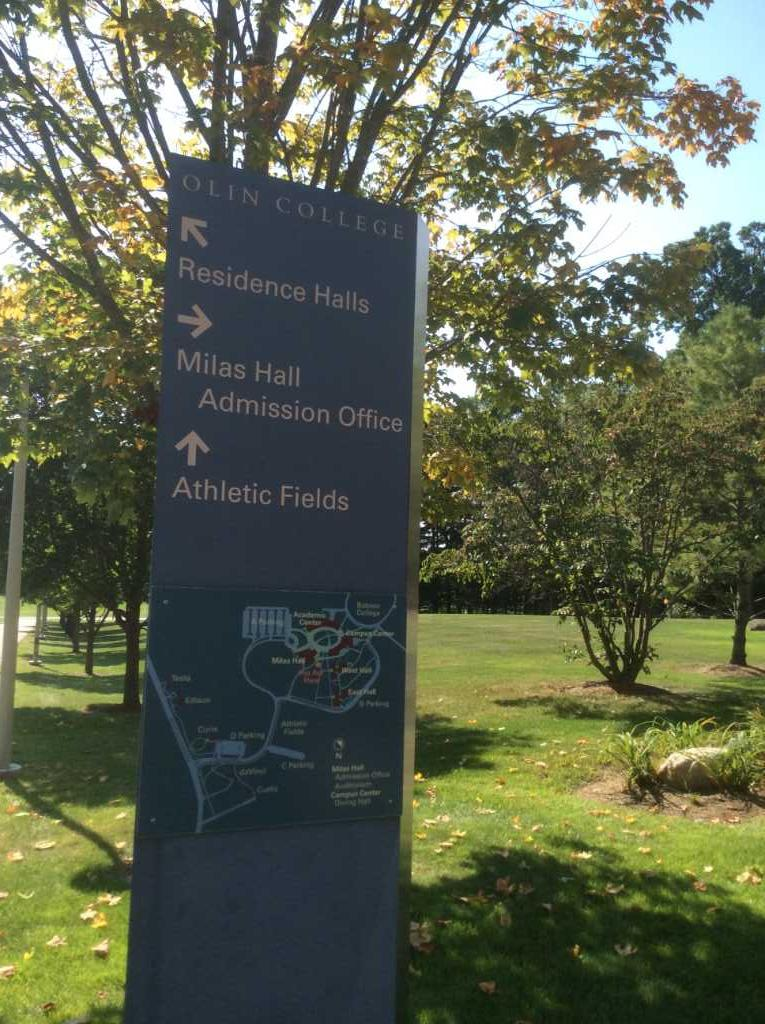 Olin-College-campus-sign
