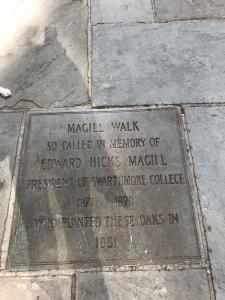 Swarthmore Magill Walk sign