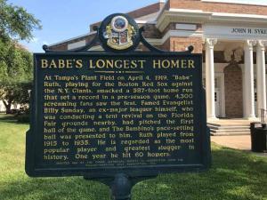 U-of-Tampa-Babe-Ruth-Longest-Homer