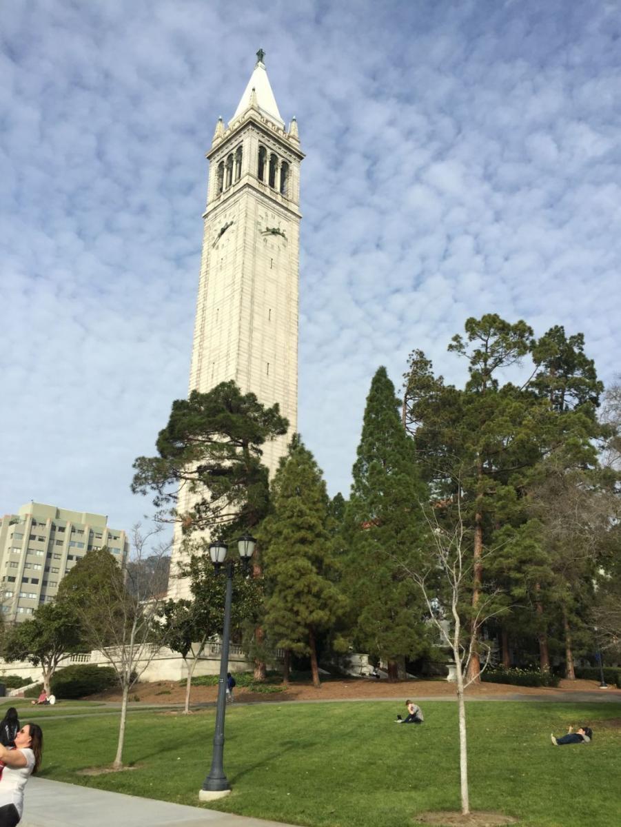 Clock tower at UC Berkeley. Magellan College Counseling