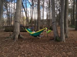 Oglethorpe-University-students-lounging-hammocks
