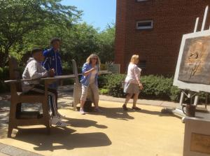 VCU-Desks-outside-Learning-Center